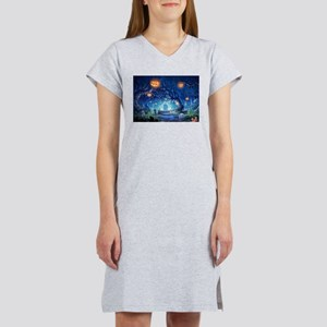 Halloween Night In Cemetery Women's Nightshirt