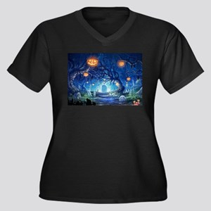 Halloween Night In Cemetery Plus Size T-Shirt