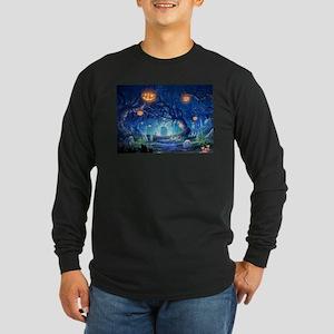 Halloween Night In Cemetery Long Sleeve T-Shirt