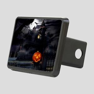 Halloween Pumpkin And Haunted House Rectangular Hi