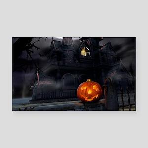 Halloween Pumpkin And Haunted House Rectangle Car