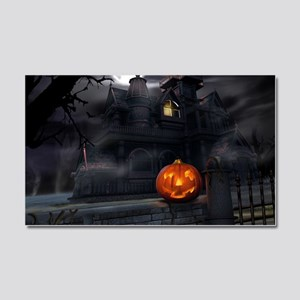 Halloween Pumpkin And Haunted House Car Magnet 20