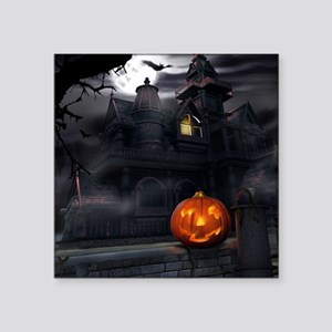 Halloween Pumpkin And Haunted House Sticker