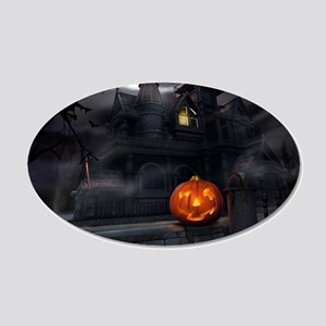 Halloween Pumpkin And Haunted House Wall Sticker