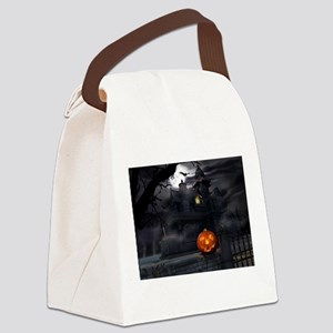 Halloween Pumpkin And Haunted House Canvas Lunch B