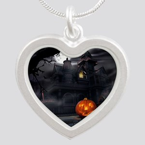 Halloween Pumpkin And Haunted House Necklaces