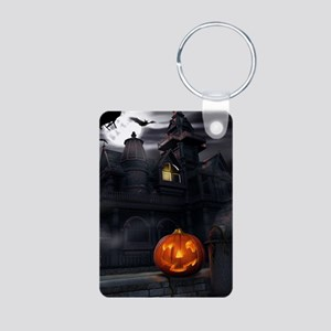 Halloween Pumpkin And Haunted House Keychains