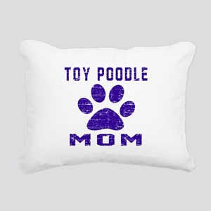 Toy Poodle mom designs Rectangular Canvas Pillow