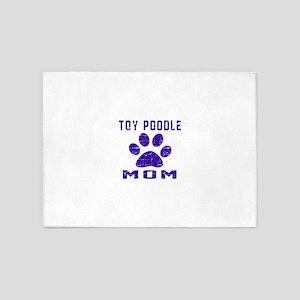 Toy Poodle mom designs 5'x7'Area Rug