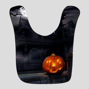 Halloween Pumpkin And Haunted House Bib