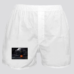 Halloween Pumpkin And Haunted House Boxer Shorts