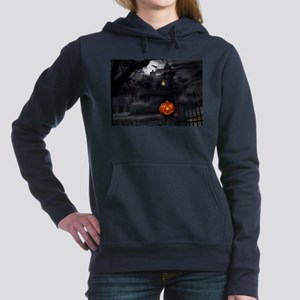 Halloween Pumpkin And Haunted House Women's Hooded