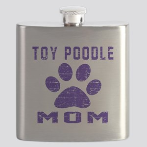 Toy Poodle mom designs Flask