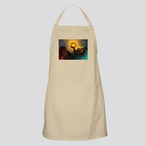Rider With Halloween Pumpkin Head Apron