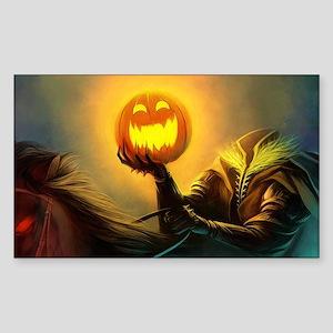Rider With Halloween Pumpkin Head Sticker