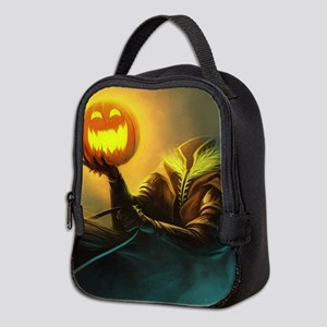 Rider With Halloween Pumpkin Head Neoprene Lunch B