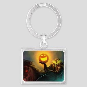 Rider With Halloween Pumpkin Head Keychains