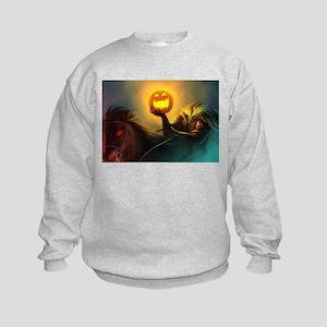 Rider With Halloween Pumpkin Head Sweatshirt