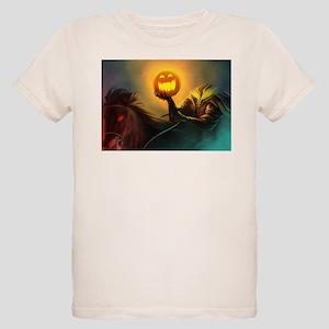 Rider With Halloween Pumpkin Head T-Shirt