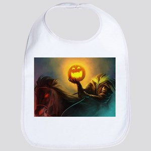 Rider With Halloween Pumpkin Head Bib