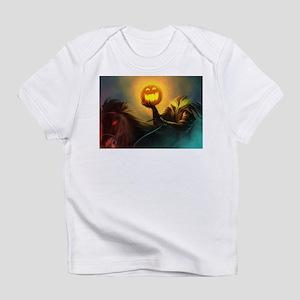 Rider With Halloween Pumpkin Head Infant T-Shirt