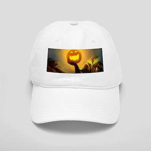 Rider With Halloween Pumpkin Head Cap