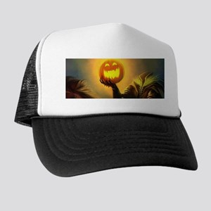 Rider With Halloween Pumpkin Head Hat