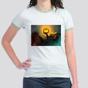 Rider With Halloween Pumpkin Head T-Shirt