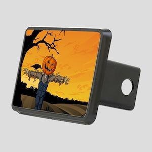 Halloween Scarecrow With Pumpkin Head Rectangular
