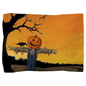 Halloween Scarecrow With Pumpkin Head Pillow Sham