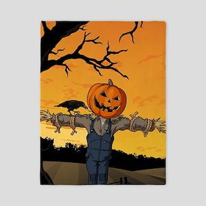 Halloween Scarecrow With Pumpkin Head Twin Duvet