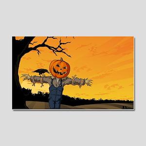 Halloween Scarecrow With Pumpkin Head Car Magnet 2