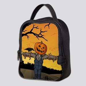 Halloween Scarecrow With Pumpkin Head Neoprene Lun