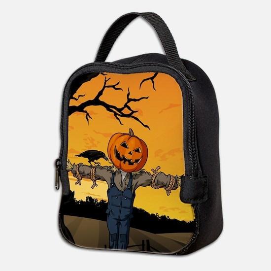 Halloween Scarecrow With Pumpkin Head Neoprene Lun