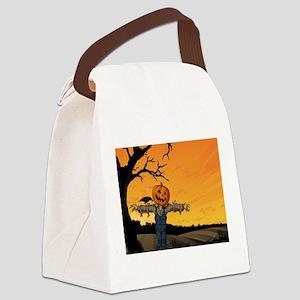 Halloween Scarecrow With Pumpkin Head Canvas Lunch