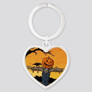 Halloween Scarecrow With Pumpkin Head Keychains