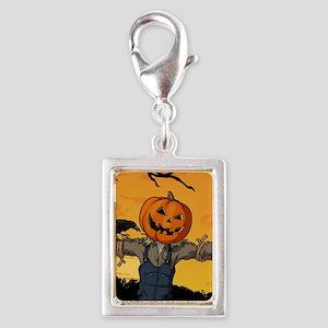 Halloween Scarecrow With Pumpkin Head Charms