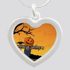 Halloween Scarecrow With Pumpkin Head Necklaces