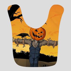Halloween Scarecrow With Pumpkin Head Bib