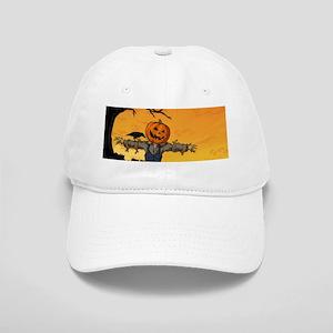 Halloween Scarecrow With Pumpkin Head Cap