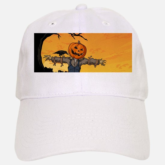 Halloween Scarecrow With Pumpkin Head Baseball Baseball Cap