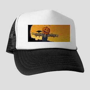 Halloween Scarecrow With Pumpkin Head Hat