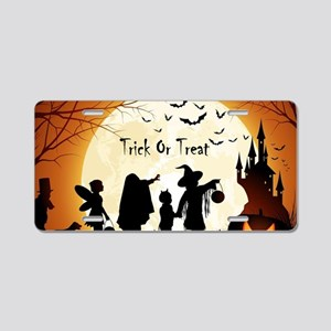 Halloween Trick Or Treat Kids Aluminum License Pla