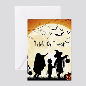 Halloween greeting cards cafepress halloween trick or treat kids greeting cards m4hsunfo Choice Image