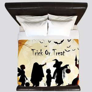 Halloween Trick Or Treat Kids King Duvet