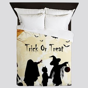 Halloween Trick Or Treat Kids Queen Duvet