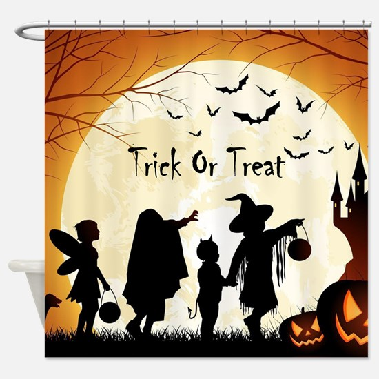 Halloween Trick Or Treat Kids Shower Curtain