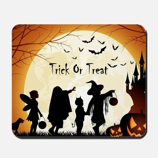 Halloween Trick Or Treat Kids Mousepad