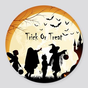 Halloween Trick Or Treat Kids Round Car Magnet