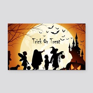 Halloween Trick Or Treat Kids Rectangle Car Magnet